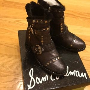 Sam Edelman black booties (New) size 7 1/2.